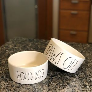 🆕 Rae Dunn Set of 2 Medium Dog Bowls